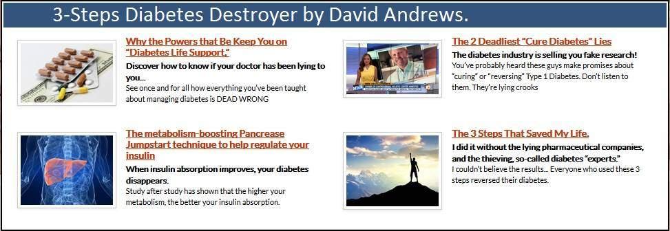 3 Steps Diabetes Destroyers