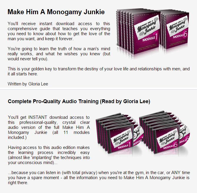 Monogamy Junkie program